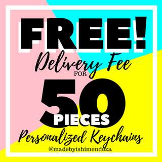FREE DELIVERY CHARGE!