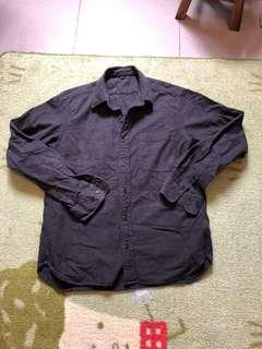 Muji 無印良品 絨質 襯衫 L號