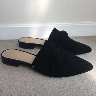 Mimco Suede Leather Slides