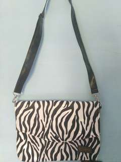 Sling Bag Clutch Zebra