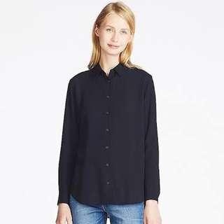 Uniqlo Rayon long-sleeves blouse