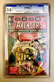 Avengers #1 CGC Graded 3.0 Origin & 1st Appearance of The Avengers
