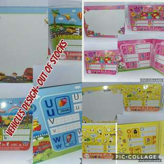 Write n Erase 3 in 1 alphabet/numbers book 11 pax available