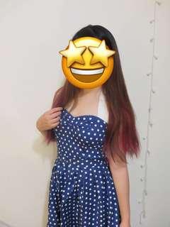 Vintage style dot dress