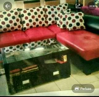Promo.tanpa dp sofa L putus + meja hanya bayar admin 199 rb