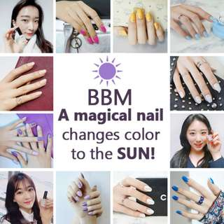 BBM Magical Nail Polish Changes Color when exposed to the SUN