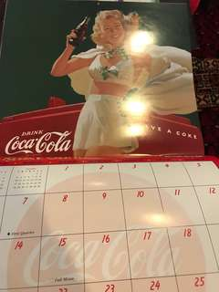 Coca-Cola calendar collector item for year 2000