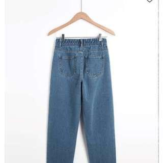 淺刷色牛仔老爺褲