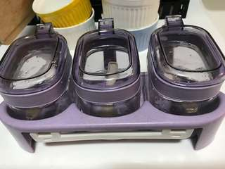 Sauce containers - plastic and glass