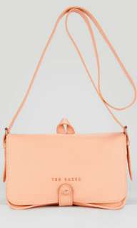 "ted baker ""markun"" stab stitch leather crossbody bag"