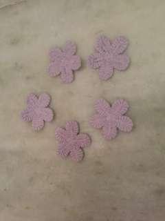 Pastle purple flower lace - TB1137
