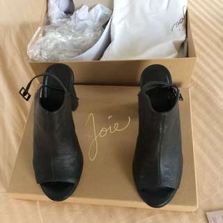 Joie Elise US Brand Leather Block Heels Sandals