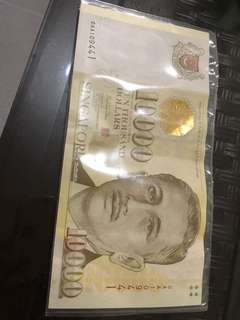 10000 old note