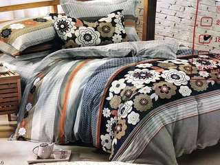 Bed Cover dan Sprei HIGH GRADE Katun Jepang Black Tunish