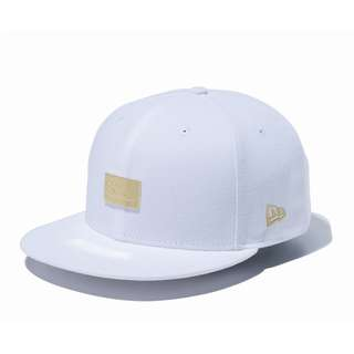 9 FIFTY Metal Plate New Era Old Logo White Gold Metal (SHIP FROM JAPAN)