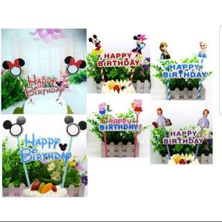 (3 for $5)Cartoon Cake Toppers series 1