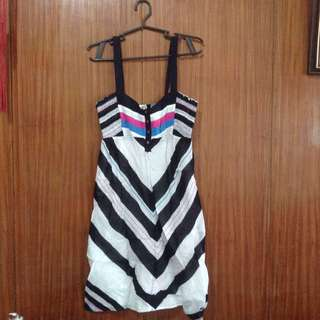 ONEILL Black and White Dress