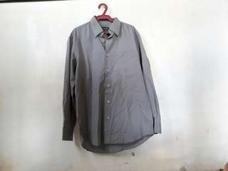 Hi-Supreme Gray Button Down Longsleeve Shirt