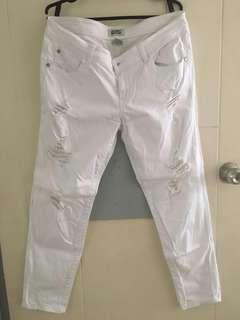 White Ripped/Tattered Jeans