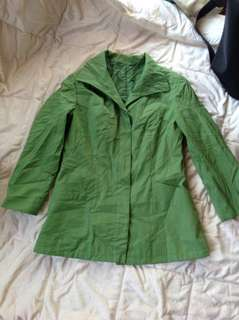 US BOUGHT & STORED GREEN OFFICE JACKET (S) $60USD