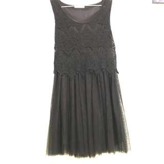 Black renda-tutu short dress