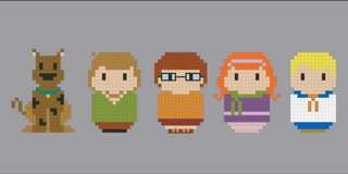 Scooby doo cross stitch bookmark