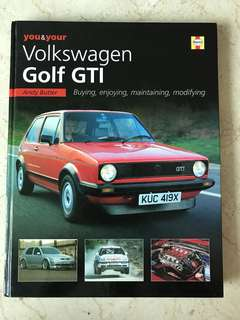 VW Golf GTi book