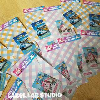 kids personalised Bagtag favors / birthday goodies