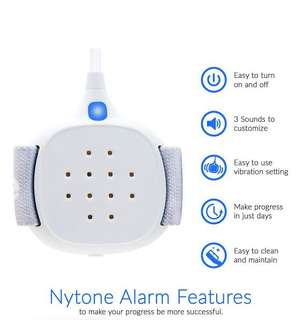 Bedwetting Alarm for Kids - Girls & Boys - Loud Sound and Strong Vibration for Deep Sleepers - Potty Pee Enuresis Alarm by Nyton