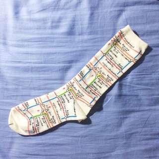 🚚 日本電車地圖襪子