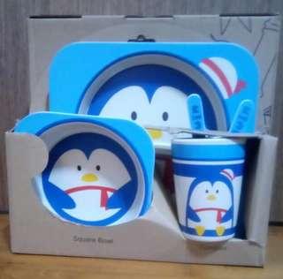 Bamboo Fibre Cutlery Kids Set (Penguin)
