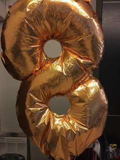 Number 8, 40 inch helium balloon for sale