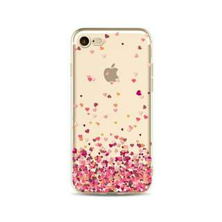 Red sweet heart Case for iphone soft tpu