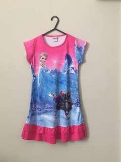 Frozen Anna and Elsa Pink Dress