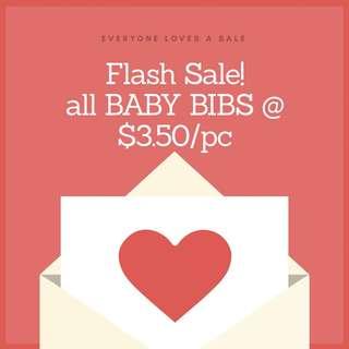 Flash Sale - Baby Bibs @ $3.50/pc