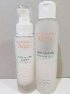 Avene oil control lotion and oil control milk
