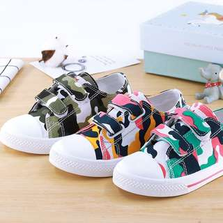 New Camouflage Canvas Boys Girls Sneakers Casual Shoes