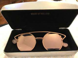 House of Holland Rose Gold Sunglasses