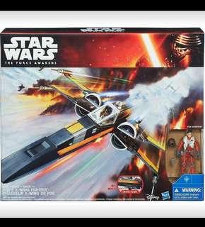 Star Wars Force Awakens Poe Dameron X - Wing Hasbro 1:18 scale