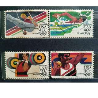 USA Olympic Theme Postage Stamps