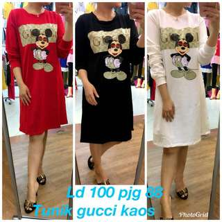 Tunik gucci bahan kaos all size FAD