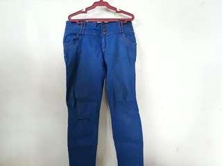 Blue Denim High Waisted Jeans