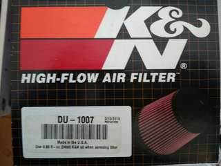 K&N air filter for Ducati