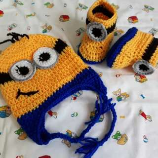 Crochet Minions Beanie and Booties