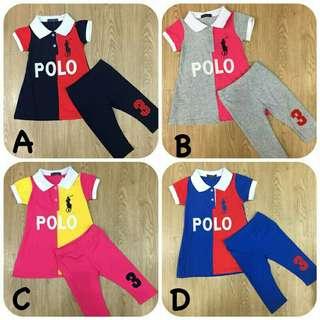 Baby polo dress with pantz