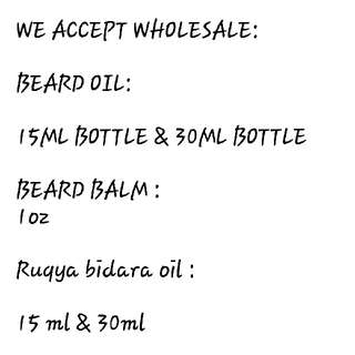 Wholesale beard oil & balm