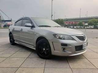【廠牌】: Mazda 馬自達 【型式】:馬三 銀色米內裝 【年份】:2005年 【排氣量】:1.6L 【檔位】:自排  【售價】:16萬8【地區】: 士林 【車況】: 前置大螢幕 雙安全氣囊 實跑153453km 📲Line:King09091988      有興趣歡迎 Fb私訊 Jin Ming售