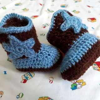 Crochet Cowboy Baby Boots