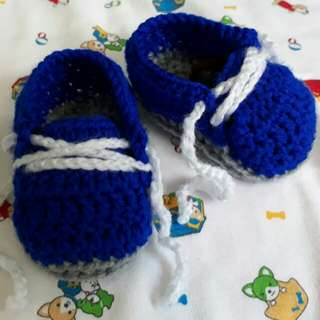 Handmade Crochet Baby Shoes 👟