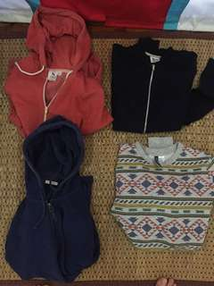 Jackets and a sweatshirt 450php EACH